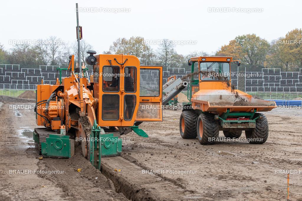 Bauarbeiten in der Grotenburg in Krefeld    Krefeld, Deutschland 11.11.2020, ,  Bauarbeiten in der Grotenburg in Krefeld  (Foto: BRAUER-Fotoagentur)