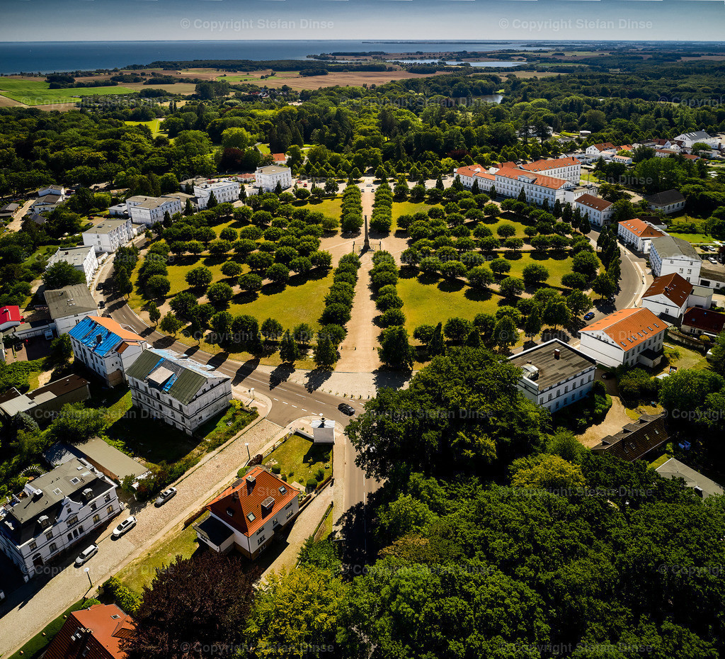 aerial view of Circus of Putbus on island Ruegen | aerial view of Circus of Putbus on island Ruegen