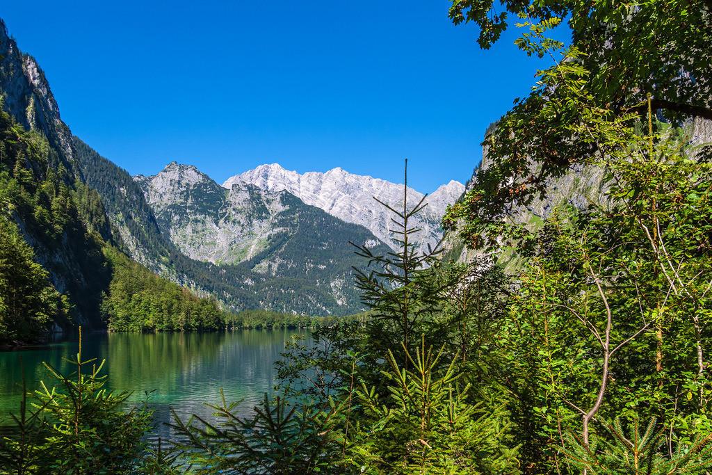 Blick auf den Obersee im Berchtesgadener Land | Blick auf den Obersee im Berchtesgadener Land.