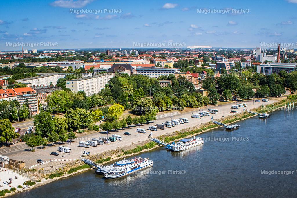 Luftbild Magdeburg Elbuferpromenade Anleger-3554