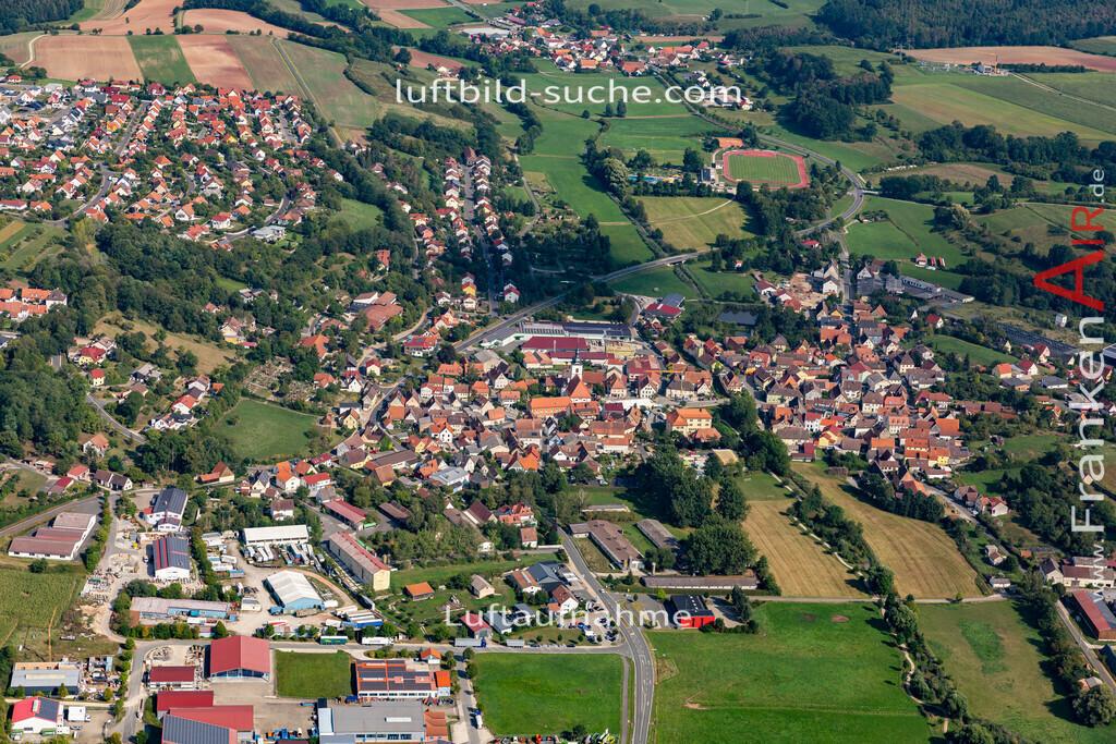 burghaslach-19-777 | aktuelles Luftbild von  Burghaslach - Luftaufnahme wurde 2019 von https://frankenair.de mittels Flugzeug (keine Drohne) erstellt.