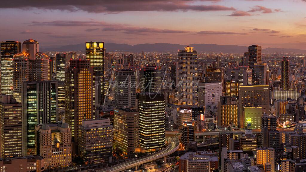 Osaka am Abend