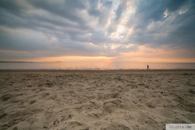 Renesse Beach Sunset | Sonnenuntergang am Sandstrand von Renesse