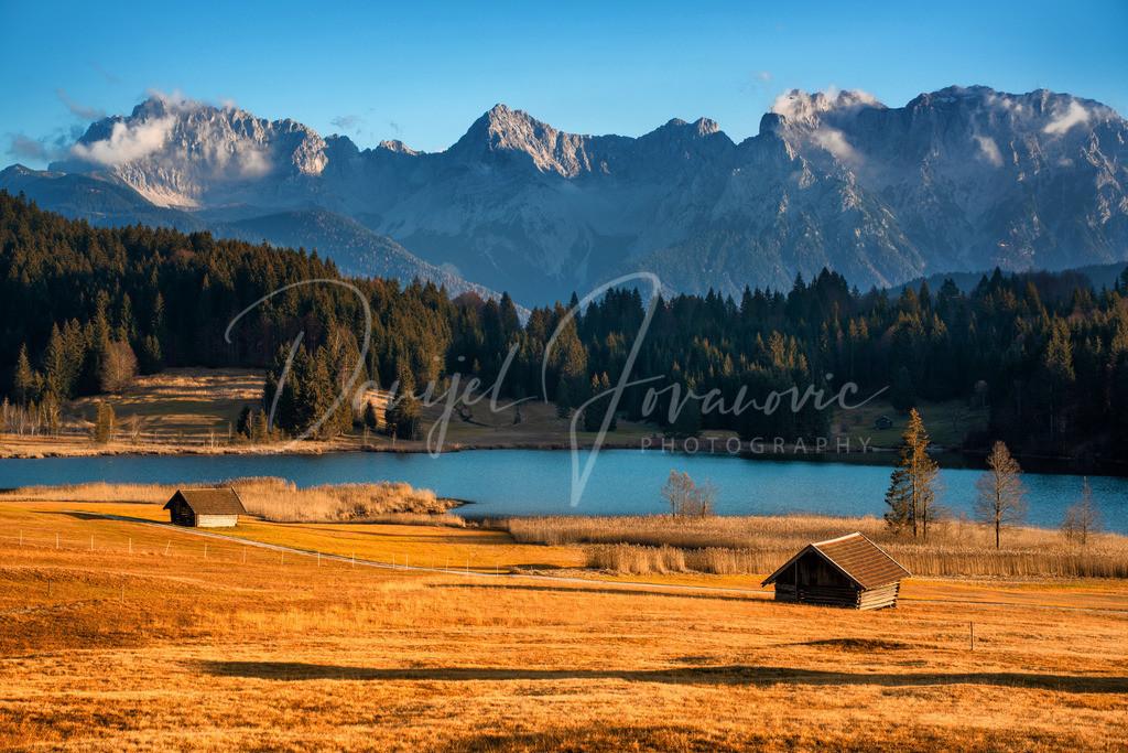 Geroldsee | Abendsonne am herbstlichen Geroldsee mit Blick auf das Karwendel