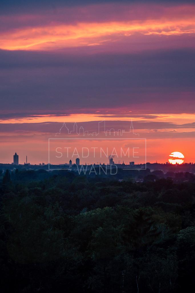 Leipzig Sonnenuntergang