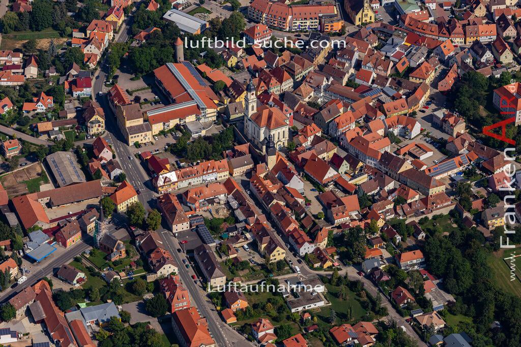 uffenheim-19-743 | aktuelles Luftbild von  Uffenheim - Luftaufnahme wurde 2019 von https://frankenair.de mittels Flugzeug (keine Drohne) erstellt.