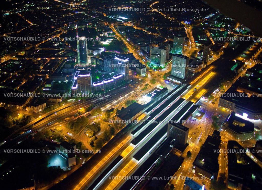 ES10052562 | City mi Hauptbahnhof bei Nacht,  Essen, Ruhrgebiet, Nordrhein-Westfalen, Germany, Europa, Foto: hans@blossey.eu, 14.05.2010