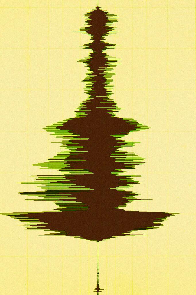 Weihnachtsbaum in Wellenform der Weihnachtsmusik