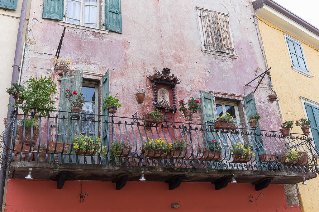 Alter Balkon am Gardasee