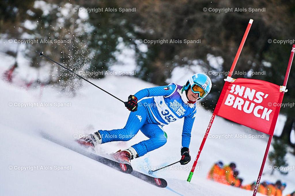 ALS5422_WWMG_GS-II_C | (C) FotoLois.com, Alois Spandl, WinterWorldMastersGames 2020 Innsbruck, Giant Slalom-II Gruppe C Damen, Patscherkofel Olympiaabfahrt, Mi 15. Jänner 2020.