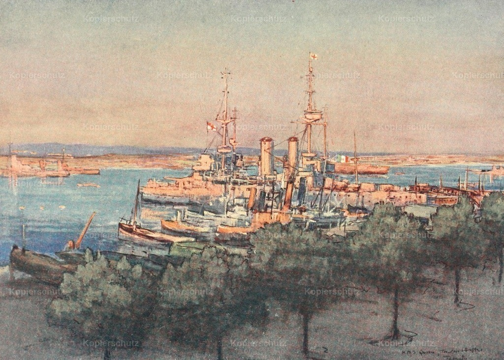 Maxwell_ Donald (1877-1936) - Naval Front 1920 - HMS Queen_ Trawlers _ Drifters_ Taranto
