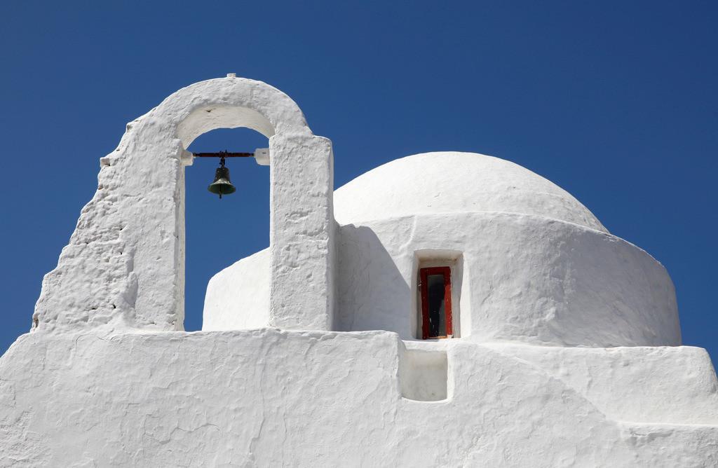 JT-110809-090 | Kirche Panagía Paraportianí  in der Altstadt von  Mykonos, Griechenland, Europa.