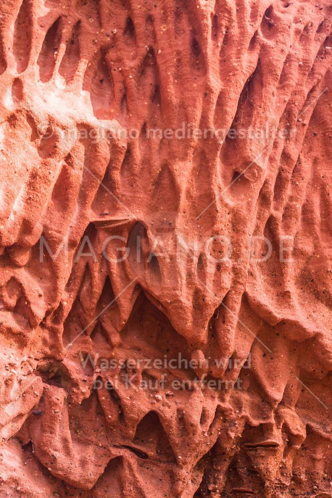 Roter Sandsteinfels