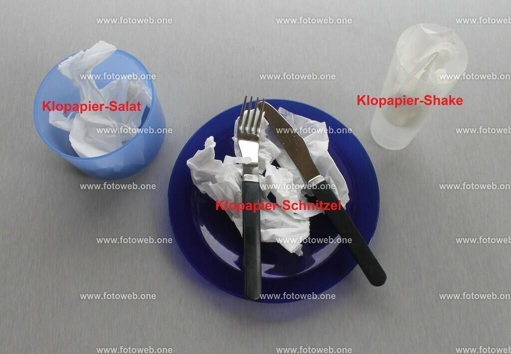 Klopapier-menü | Für alle die immer noch glauben das Klopapier zu den 4 Grundnahrungsmittel gehören.