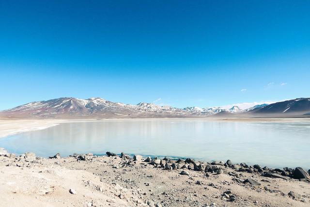 Freezing | Laguna Blanca (Weiße Lagune) auf der Lagunenroute im Altiplano Bolviens