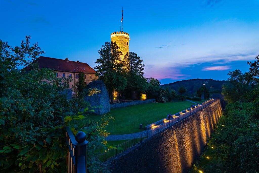 Sommerabend auf der Sparrenburg | Sommerabend auf der Sparrenburg in Bielefeld.