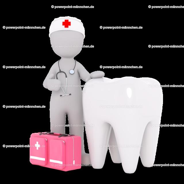the dentist with a huge tooth | Quelle: https://3dman.eu   Jetzt 250 Bilder kostenlos sichern