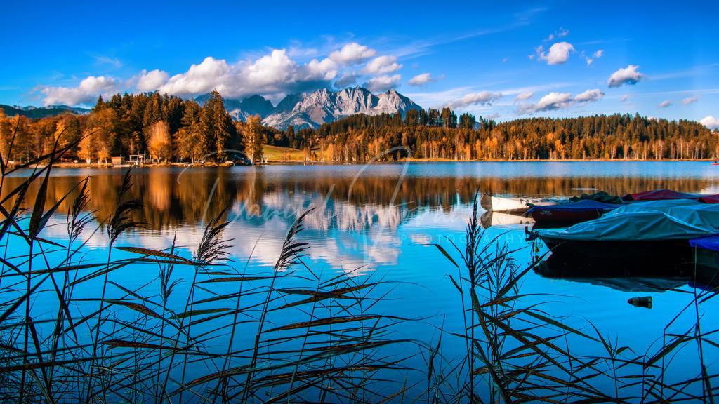 Schwarzsee | Herbst am Schwarzsee mit Blick auf den Wilden Kaiser