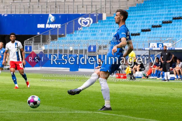 Fußball, Herren, Testspiel, Hamburger SV - FC Hansa Rostock, Volksparkstadion, 09.08.2020 | Sven Sonnenberg (#23 Hansa Rostock)
