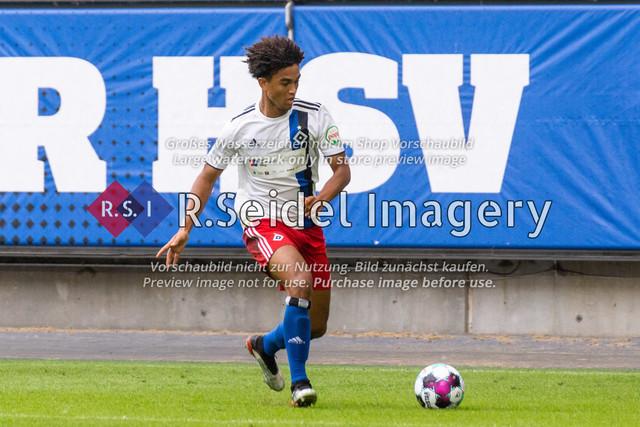 Fußball, Herren, Testspiel, Hamburger SV - FC Hansa Rostock, Volksparkstadion, 09.08.2020   Herdi Bukusu (#40 HSV)