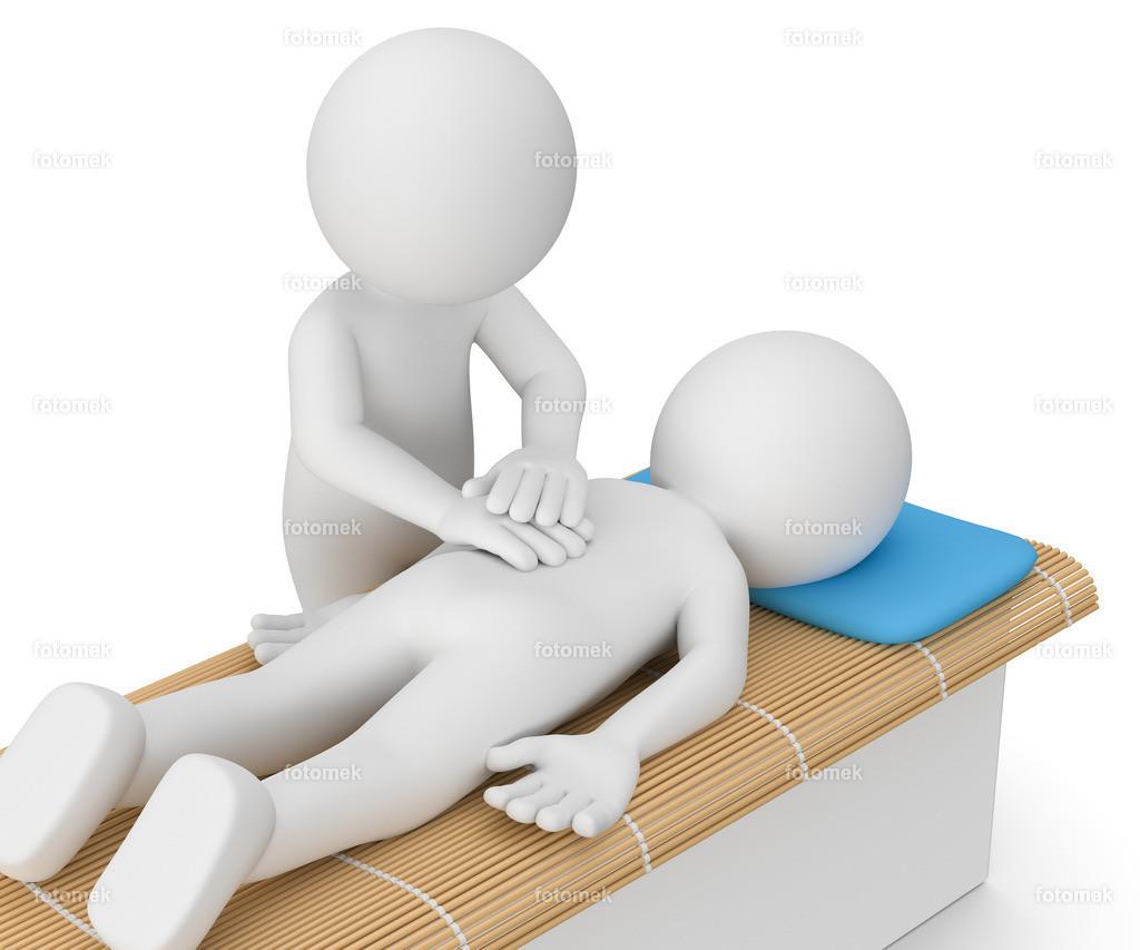 3d Männchen Massage | weisses 3D Männchen von Fotomek