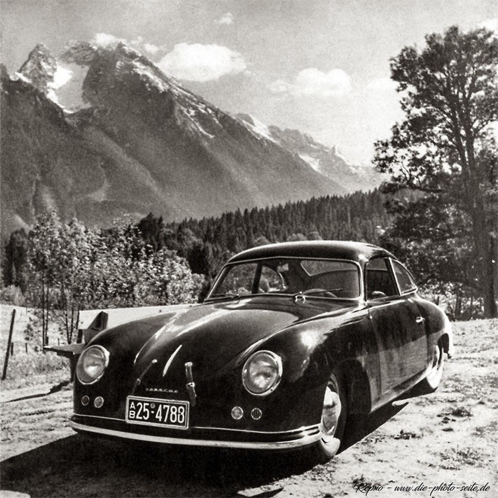 schwarzer Porsche 356