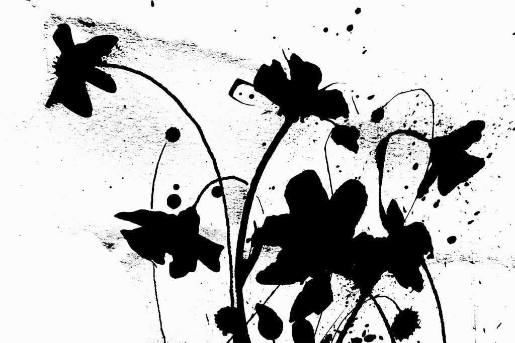 Blumen-Motiv-SchabloneSW5 | Projektionsmotive der Kunstevents