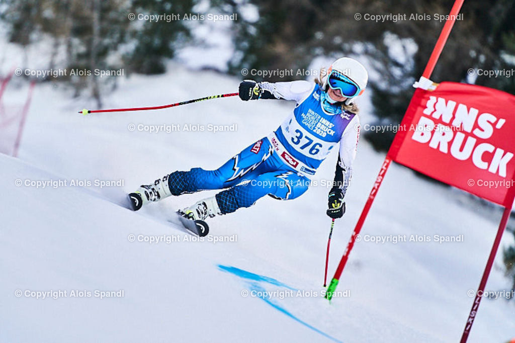 ALS5554_WWMG_GS-II_C | (C) FotoLois.com, Alois Spandl, WinterWorldMastersGames 2020 Innsbruck, Giant Slalom-II Gruppe C Damen, Patscherkofel Olympiaabfahrt, Mi 15. Jänner 2020.