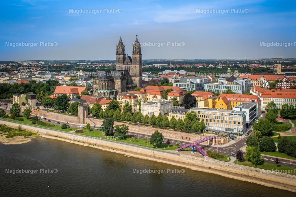 Luftbild Magdeburg Dom Stadtpark MDR Hypar-5557 2
