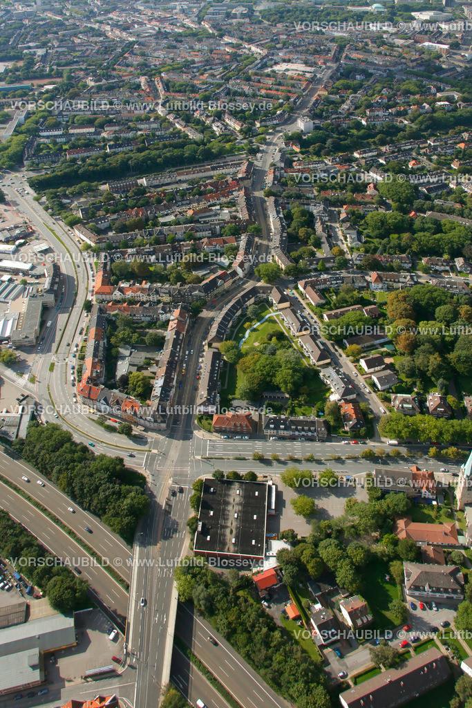 ES10094211 | Rellinghauser Strasse, Luftbild,  Essen, Ruhrgebiet, Nordrhein-Westfalen, Germany, Europa, Foto: hans@blossey.eu, 05.09.2010