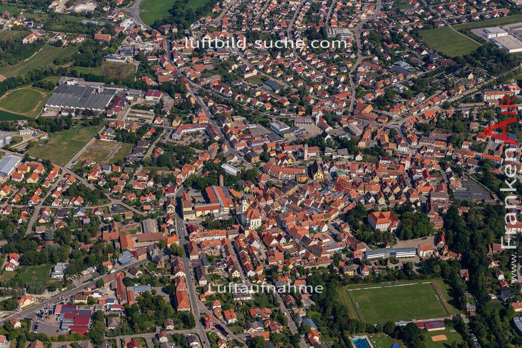 uffenheim-19-739 | aktuelles Luftbild von  Uffenheim - Luftaufnahme wurde 2019 von https://frankenair.de mittels Flugzeug (keine Drohne) erstellt.