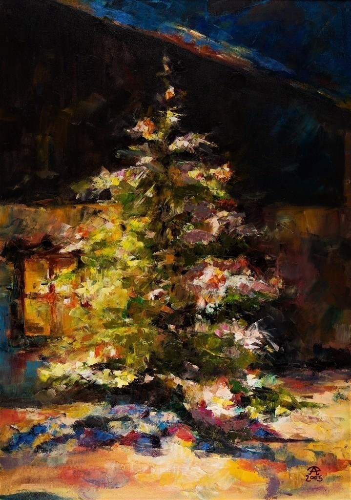 Der Lichterbaum | Originalformat: 70x50cm  -   Produktionsjahr: 2005