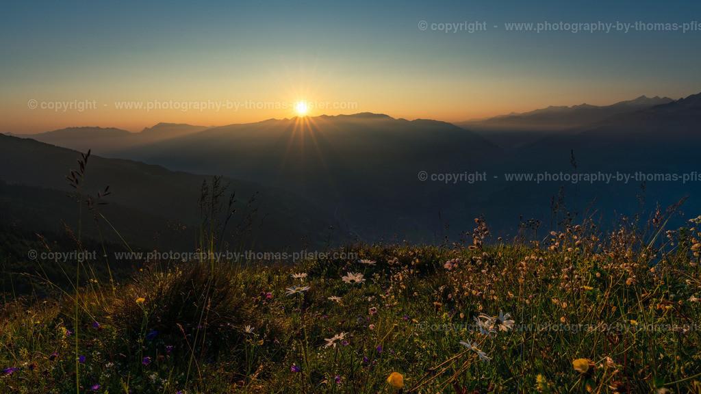 Zillertaler Höhenstrasse Sonnenaufgang