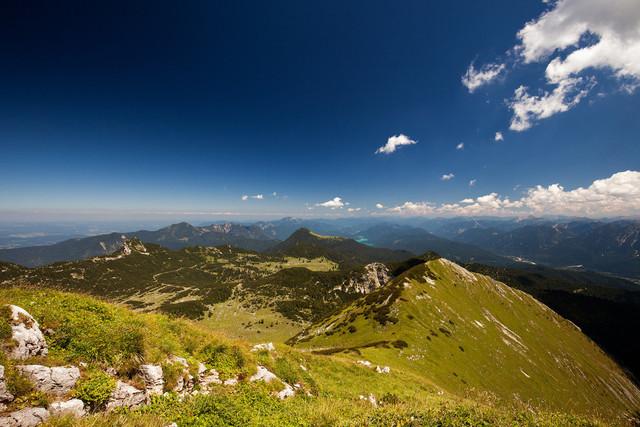 Blick vom Krottenkopf | Wanderung auf den Krottenkopf im Estergebirge in den Alpen