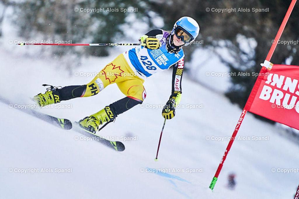 ALS5822_WWMG_GS-II_C | (C) FotoLois.com, Alois Spandl, WinterWorldMastersGames 2020 Innsbruck, Giant Slalom-II Gruppe C Damen, Patscherkofel Olympiaabfahrt, Mi 15. Jänner 2020.
