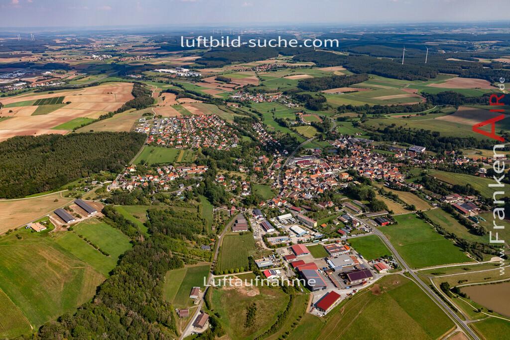 burghaslach-19-778 | aktuelles Luftbild von  Burghaslach - Luftaufnahme wurde 2019 von https://frankenair.de mittels Flugzeug (keine Drohne) erstellt.