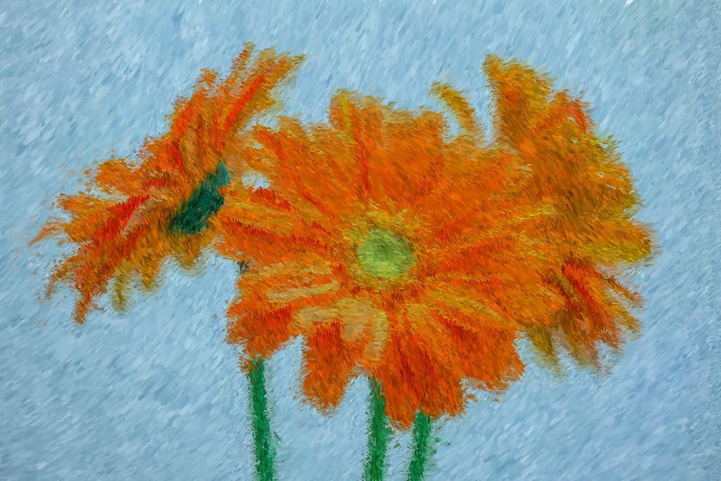 Blumen Porträt | Fotografie trifft auf Digital Painting, moderne Malerei - Mixed Media. Die Entstehung dieser Kunstserie erfolgt über Fotografie und digital Painting. Die digitale Vorgehensweise ermöglicht es mir Kunstwerke zu erschaffen die mit konventioneller Herangehensweise nicht zu realisieren sind.