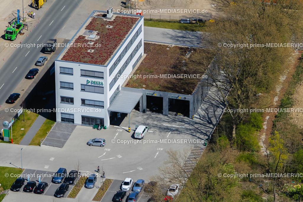 IMGL2402 | Luftbild 21.04.2015 in Dortmund (Nordrhein-Westfalen, Deutschland). Prüfstelle Marten der DEKRA Automobil GmbH Niederlassung Dortmund Foto: Michael Printz / PHOTOZEPPELIN.COM