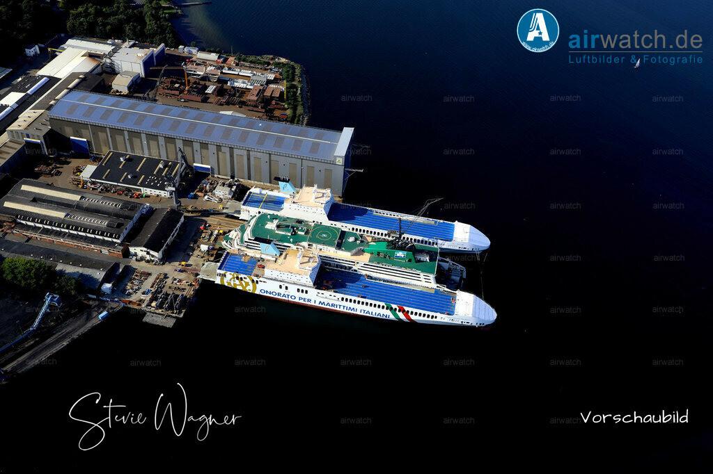 Luftbild Flensburger Foerde, Flensburger Schiffbau Gesellschaft, FSG | Flensburger Foerde, Flensburger Schiffbau Gesellschaft FSG • max. 6240 x 4160 pix