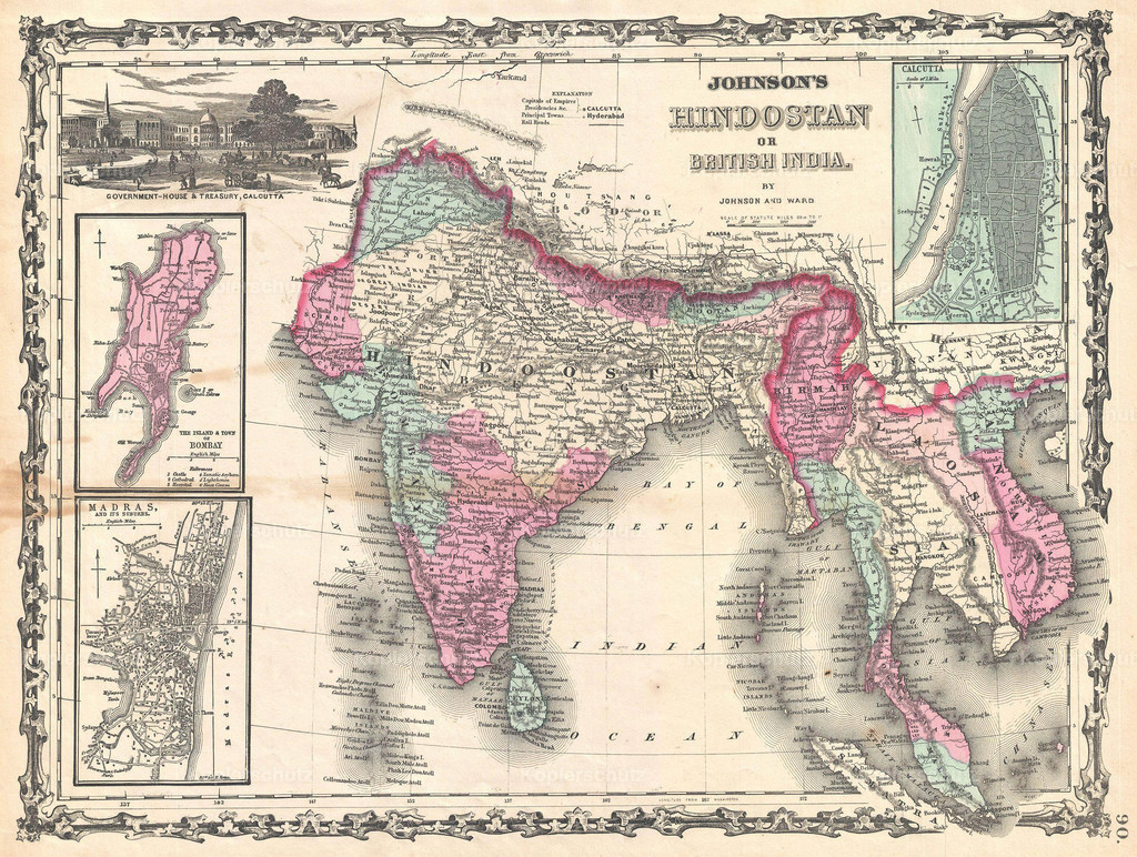 1862_Johnson_Map_of_India_and_Southeast_Asia
