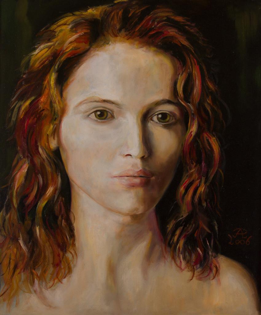 Mädchenportrait   Originalformat: 60x50cm  -  Produktionsjahr: 2006