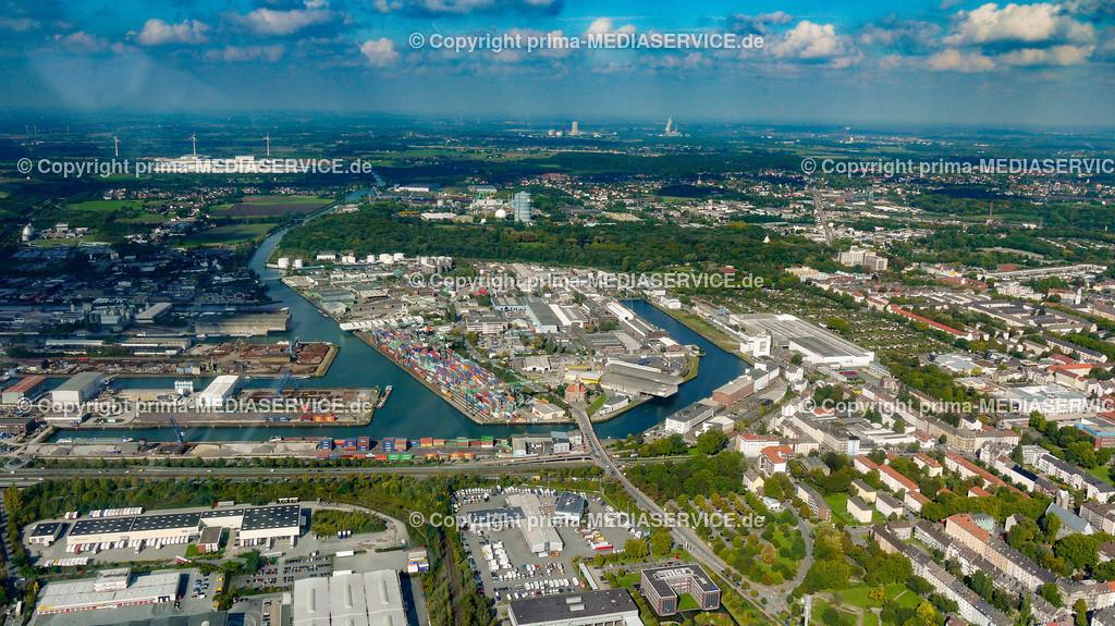 2010-10-01 Luftbilder Dortmund | Deutschland / Nordrhein-Westfalen / Dortmund / Steinerne Brücke / Binnenhafen Dortmund Foto: Michael Printz / PHOTOZEPPELIN.COM