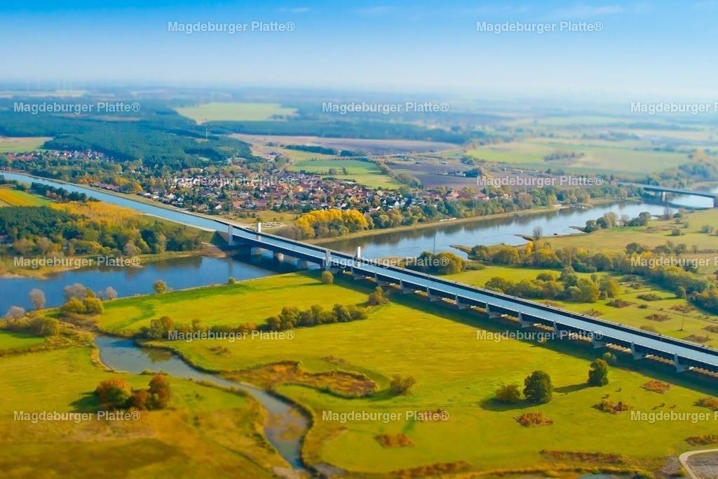 Luftbild Magdeburg Trogbrücke Miniatur Das Foto IMG_2164