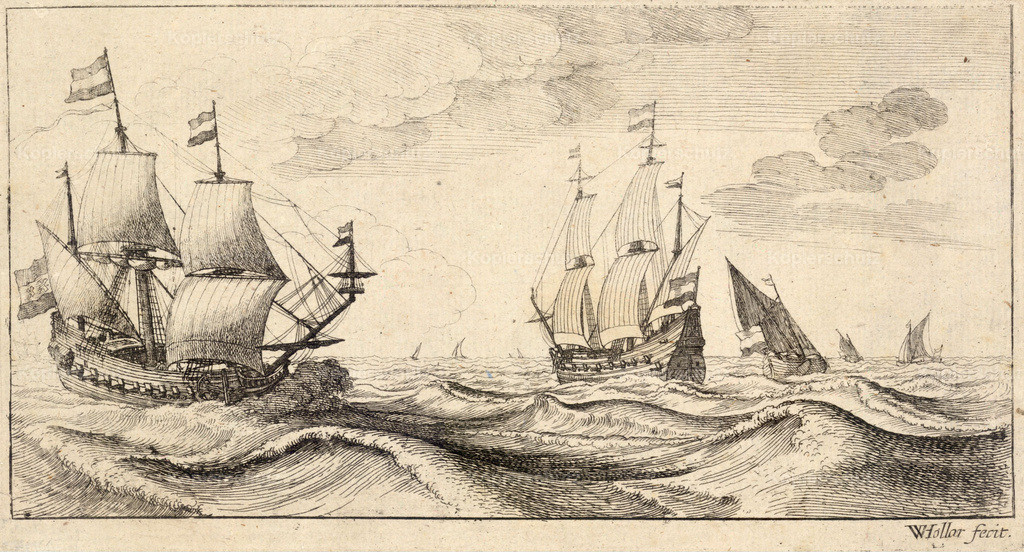 Wenceslas_Hollar_-_Two_warships_under_sail