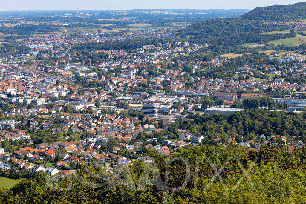Aalen City und 'i Live Tower'