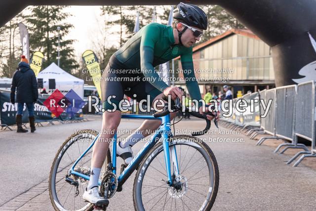 Radsport, Stevens Cyclocross Cup 2019, 10. Lauf (RSG Nordheide), Rennen 9 (Elite Herren + U23, Masters 2 / Elite Ü40 und Junioren U19), Buchholz i.d.N., 19.01.2020   Rasmus Gøtke (Skrænten CC, #24, Elite)