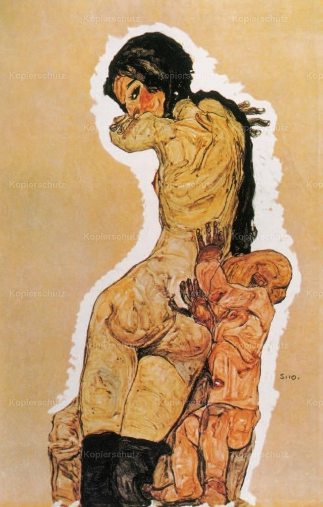 Schiele_ Egon (1890-1918) - Mother _ Child 1910