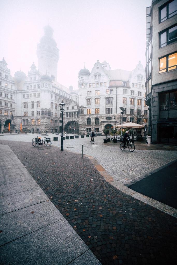 Leipzig Burgplatz Nebel (2)