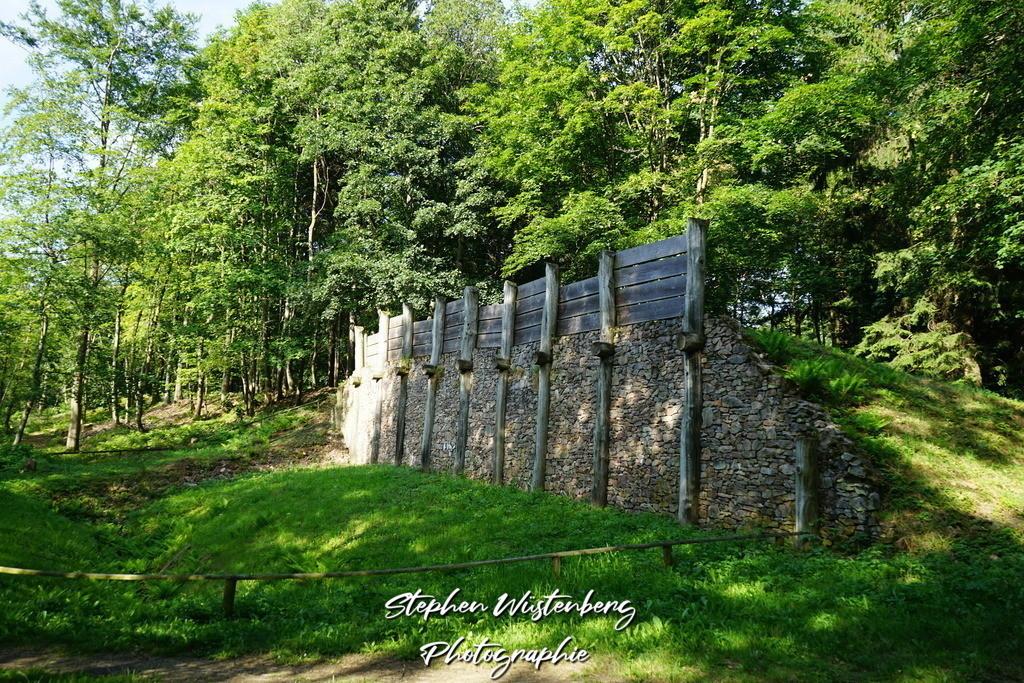 Modell keltische Stadtmauer  | Modell einer keltischen Stadtmauer auf dem Donnersberg