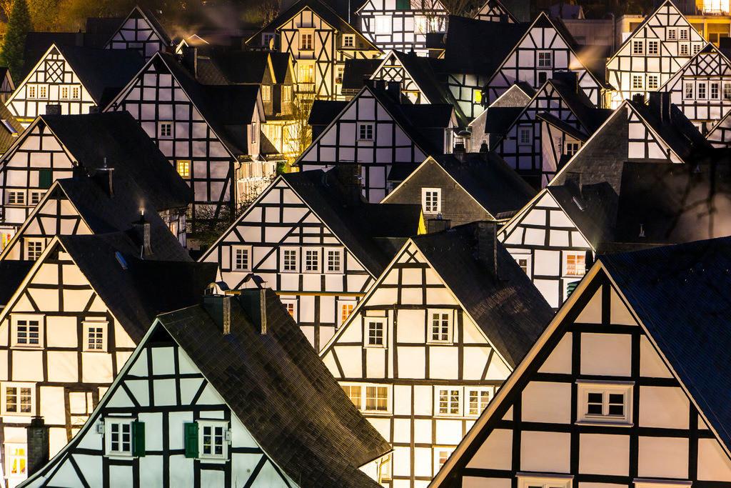 JT-160225-339   Historische Altstadt von Freudenberg, Alter Flecken, Siegerland, Kreis Siegen-Wittgenstein, Fachwerkhaus Kulisse,